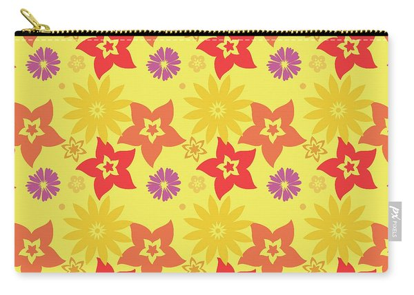 Sunny Flowers Carry-all Pouch