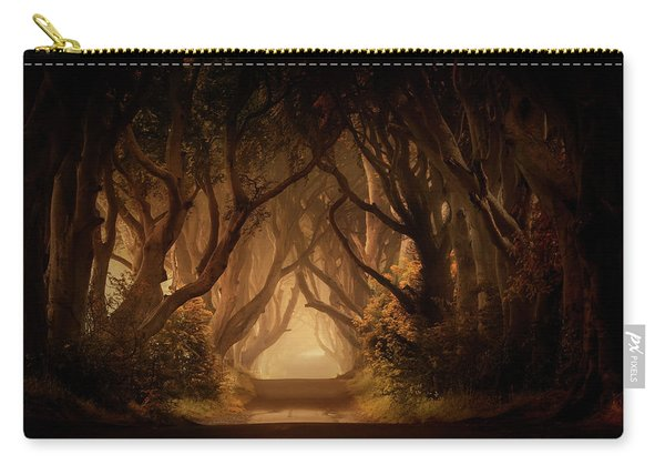 Carry-all Pouch featuring the photograph Sunny Morning In Dark Hedges by Jaroslaw Blaminsky