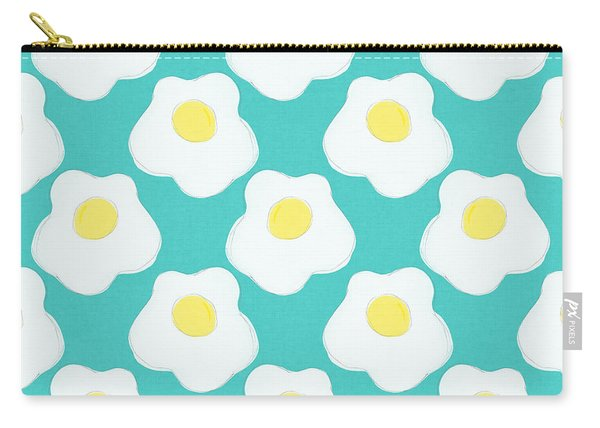 Sunny Side Up Eggs- Art By Linda Woods Carry-all Pouch