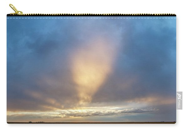 Carry-all Pouch featuring the photograph Sunrise And Wheat 01 by Rob Graham