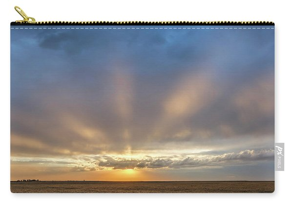 Carry-all Pouch featuring the photograph Sunrise And Wheat 03 by Rob Graham