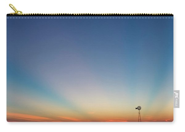 Carry-all Pouch featuring the photograph Sunrise And Windmill 01 by Rob Graham