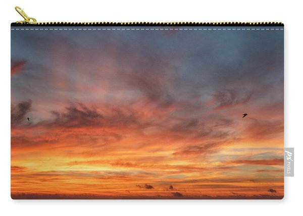 Carry-all Pouch featuring the photograph Sunrise At Cheyenne Bottoms 01 by Rob Graham