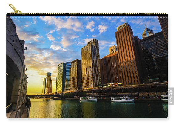 Sunrise At Navy Pier Carry-all Pouch