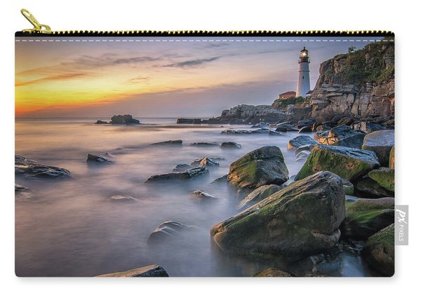 Sunrise At Portland Head Light Carry-all Pouch