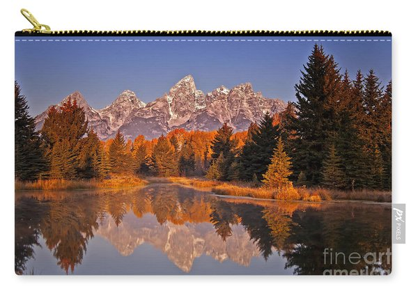 Carry-all Pouch featuring the photograph Sunrise At Schwabacher Landing  by Sam Antonio Photography