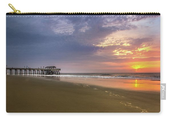 Sunrise At Tybee Island Pier Carry-all Pouch