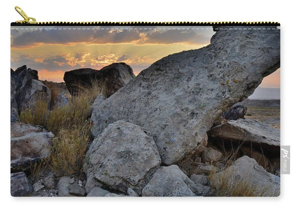 Sunrise Clouds Over Red Rock Valley In Grand Junction Carry-all Pouch