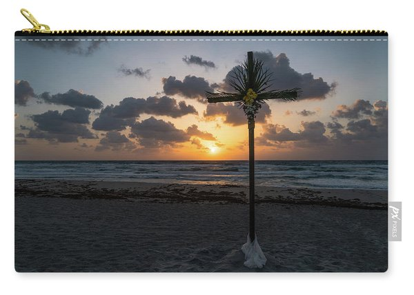 Sunrise Easter Cross Delray Beach Florida Carry-all Pouch