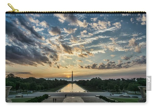 Sunrise From The Steps Of The Lincoln Memorial In Washington, Dc  Carry-all Pouch