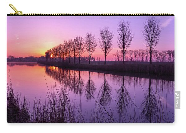 Carry-all Pouch featuring the photograph Sunrise In Holland by Susan Leonard