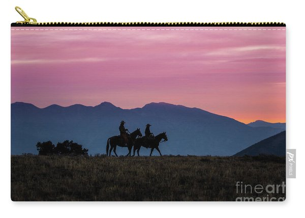 Sunrise In The Lost River Range Wild West Photography Art By Kay Carry-all Pouch