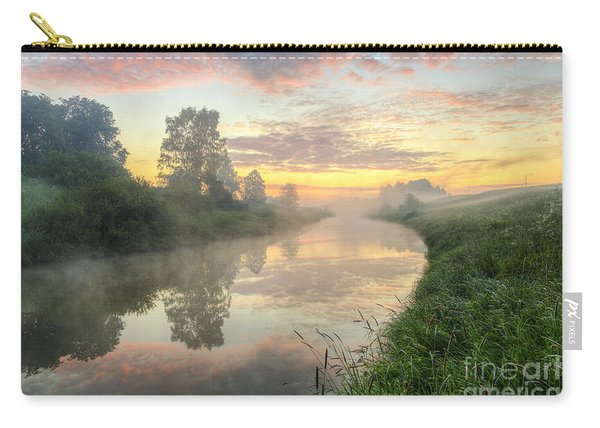 Sunrise On A Misty River Carry-all Pouch