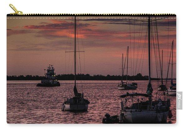 Sunrise On Sarasota Bay, Bradenton Beach Carry-all Pouch