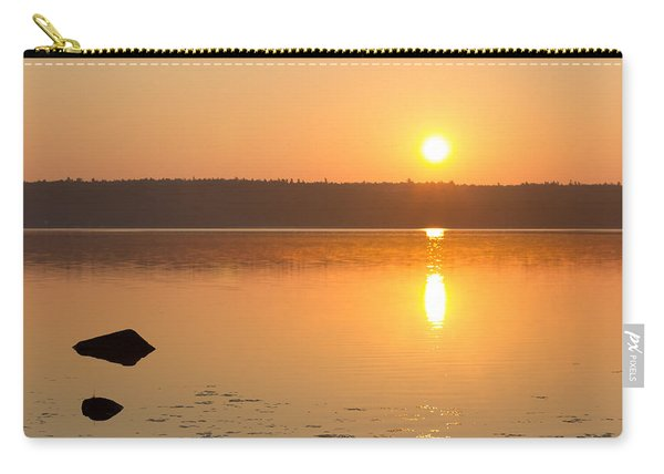 Sunrise On The Rocks Of Branch Lake - Maine Carry-all Pouch