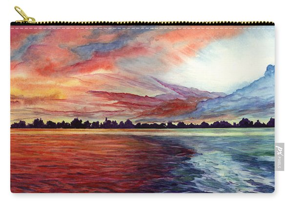 Sunrise Over Indian Lake Carry-all Pouch