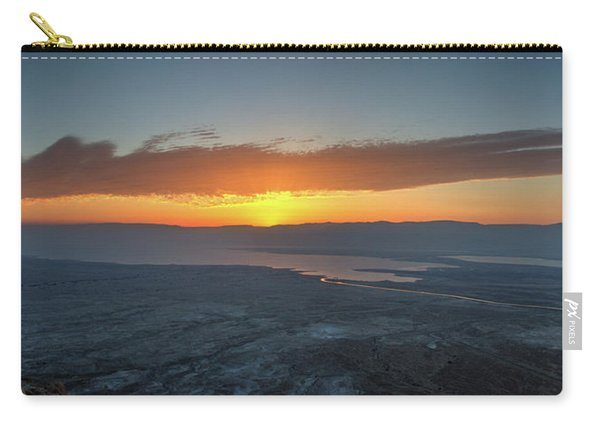 Sunrise Over The Moav Mountains Carry-all Pouch