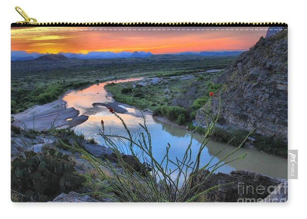 Sunrise Over The Ocatillo Carry-all Pouch