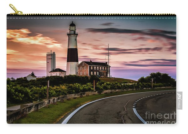 Sunrise Road To The Montauk Lighthous Carry-all Pouch