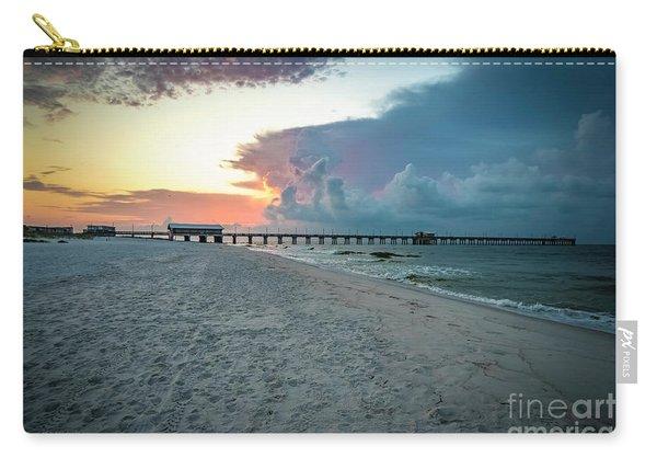 Sunrise Seascape Gulf Shores Al Pier 064a Carry-all Pouch