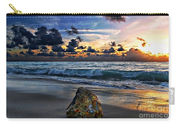 Sunrise Seascape Wisdom Beach Florida C3 Carry-all Pouch