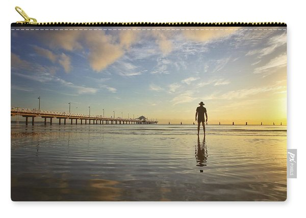 Sunrise Silhouette Down By The Pier. Carry-all Pouch