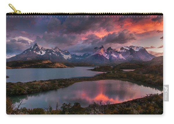 Sunrise Spectacular At Torres Del Paine. Carry-all Pouch