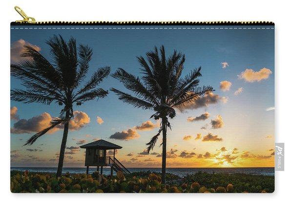 Sunrise Sunburst Palms Delray Beach Florida Carry-all Pouch