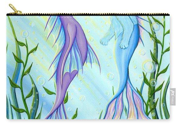 Sunrise Swim - Sea Dragon Mermaid Cat Carry-all Pouch