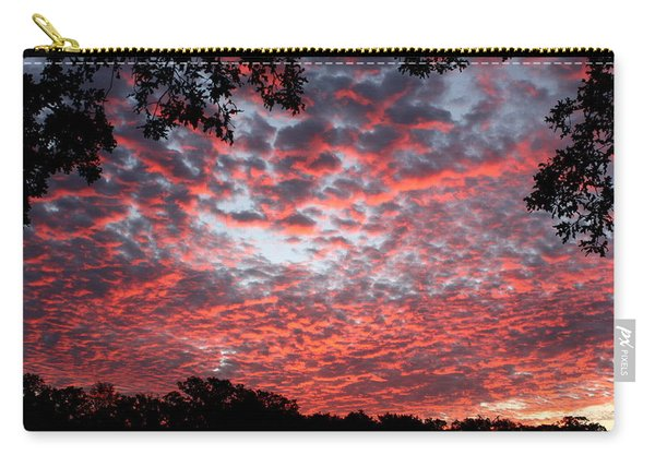 Sunrise Through The Trees Carry-all Pouch