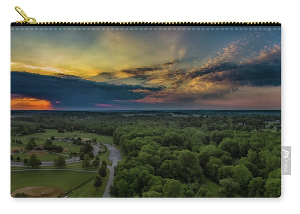Sunrise Thru The Clouds Carry-all Pouch