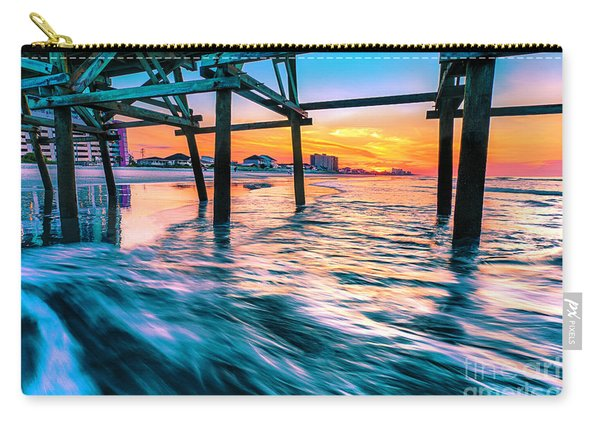 Sunrise Under Cherry Grove Pier Carry-all Pouch