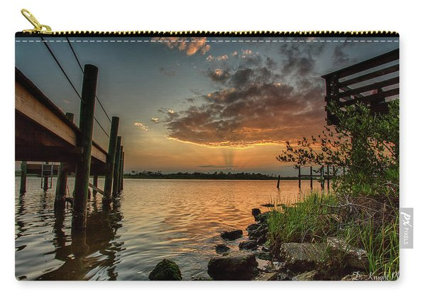 Sunrise Under The Dock Carry-all Pouch