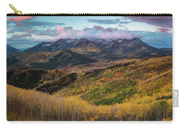 Sunrise View Of Mount Timpanogos Carry-all Pouch