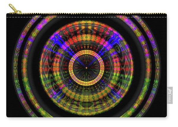 Carry-all Pouch featuring the digital art Sunset 1, Series II by Visual Artist Frank Bonilla