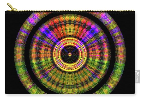 Carry-all Pouch featuring the digital art Sunset 2, Series II by Visual Artist Frank Bonilla