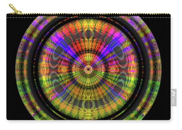 Carry-all Pouch featuring the digital art Sunset 3, Series II by Visual Artist Frank Bonilla