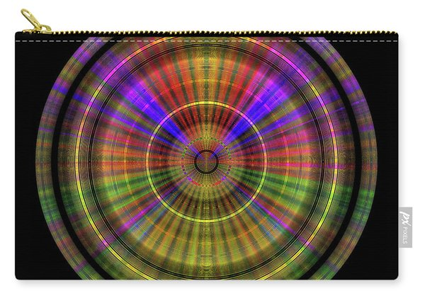Carry-all Pouch featuring the digital art Sunset 4, Series II by Visual Artist Frank Bonilla