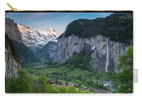 Sunset Above The Lauterbrunnen Valley Carry-all Pouch
