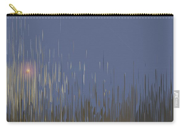 Carry-all Pouch featuring the digital art Sunset Across The Lake by Gina Harrison