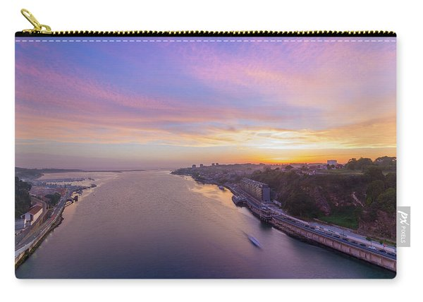 Sunset And A Small Boat Carry-all Pouch