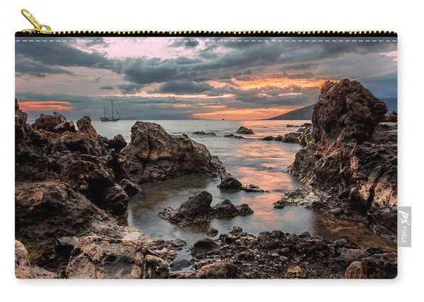 Sunset At Charley Young Beach Carry-all Pouch