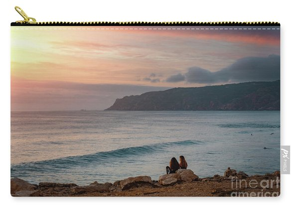 Sunset At Guincho Beach Carry-all Pouch