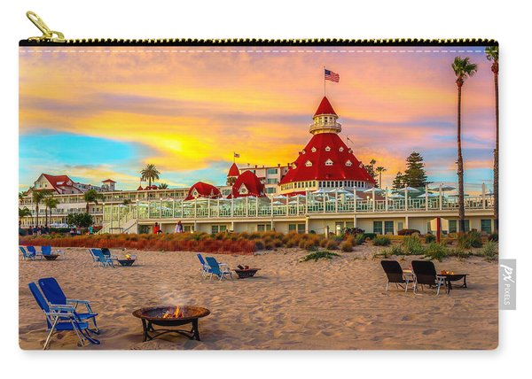 Sunset At Hotel Del Coronado Carry-all Pouch