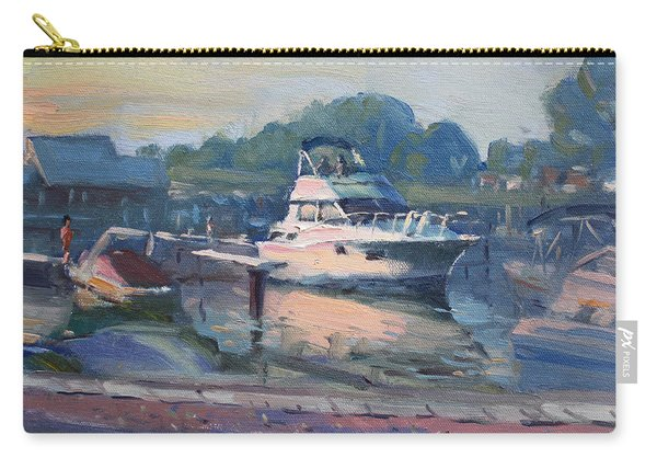 Sunset At Kellys And Jassons Boat Carry-all Pouch