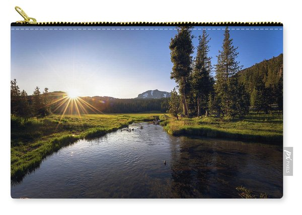 Sunset At Kings Creek In Lassen Volcanic National Carry-all Pouch