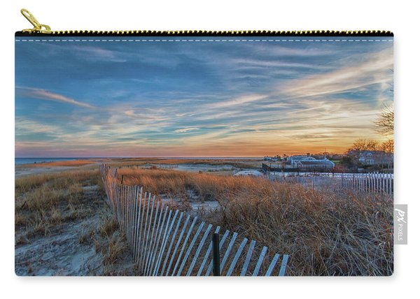 Sunset At Lighthouse Beach In Chatham Massachusetts Carry-all Pouch