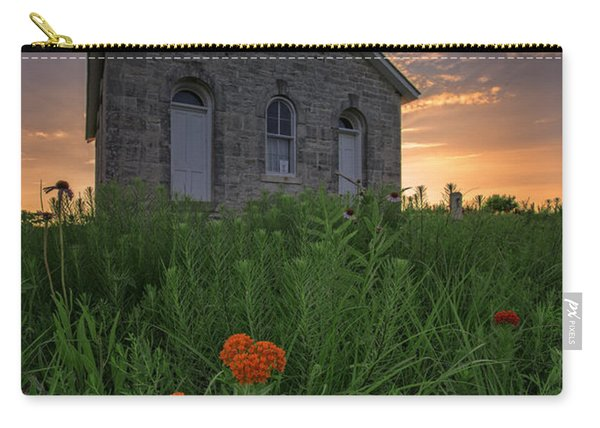 Sunset At Lower Fox Creek Schoolhouse Carry-all Pouch