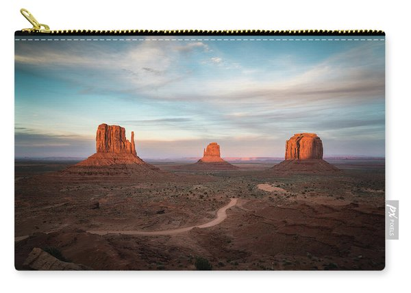 Sunset At Monument Valley Carry-all Pouch