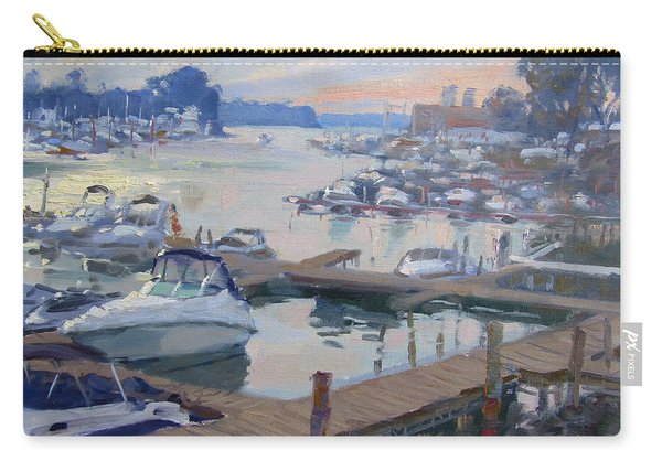 Sunset At North Tonawanda Harbor Carry-all Pouch
